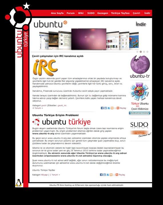 Ubuntu Türkiye Sayfa Önerisi